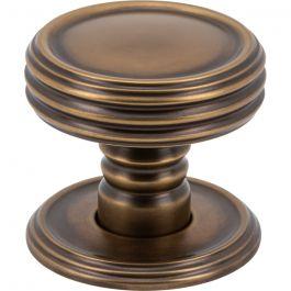 Divina Knob 1 1/4 Inch Aged Brass