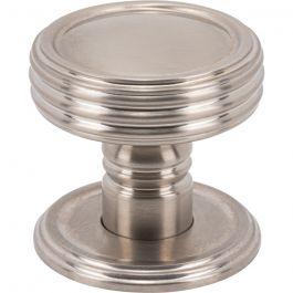 Divina Knob 1 1/2 Inch Brushed Satin Nickel