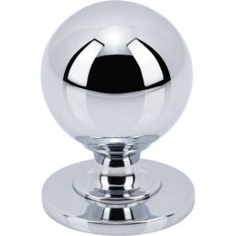 Divina Round Smooth Knob 1 Inch Polished Chrome