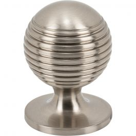 Divina Round Rimmed Knob 1 1/4 Inch Brushed Satin Nickel