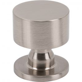 Dante Knob 1 1/8 Inch Brushed Satin Nickel