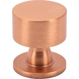 Dante Knob 1 1/8 Inch Satin Copper